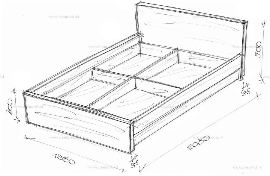 Как сделать кровать из дерева своими руками чертежи