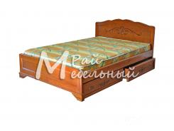 Двуспальная кровать Афины с ящиками