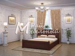 Двуспальная кровать из березы Вашингтон с ящ