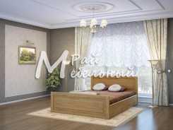 Двуспальная кровать из березы Варна с ящ