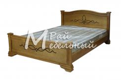 Двуспальная кровать из березы Бейрут