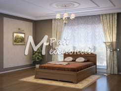 Двуспальная кровать из березы Ватикан с ящ