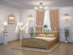 Двуспальная кровать из березы Валенсия с ящ