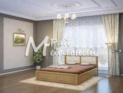 Двуспальная кровать из березы Брест с ящ