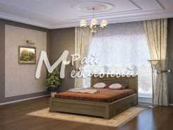 Двуспальная кровать из березы Ашхабад с ящ