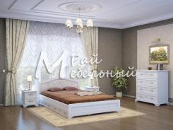 Спальня из массива Анталия с ящиками