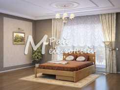 Двуспальная кровать Мехико с ящиками