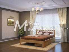 Двуспальная кровать из березы Братислава с ящ