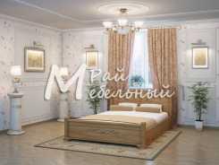 Двуспальная кровать из березы Бейрут с ящ