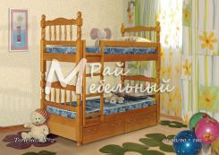 Кровать двухъярусная Точеная 2 с ящиками