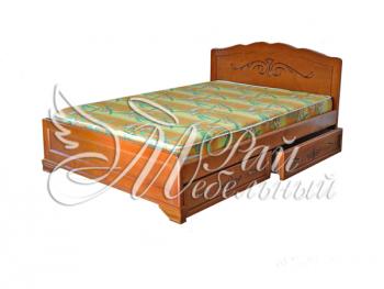Полуторная кровать Афины с ящ