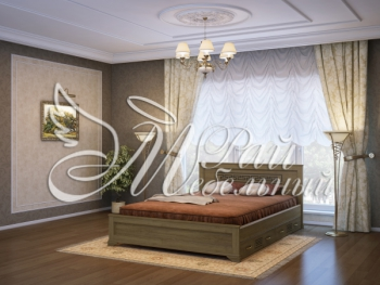 Двуспальная кровать Ашхабад с ящ