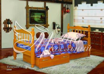 Кровать детская Точеная 3 с ящиками
