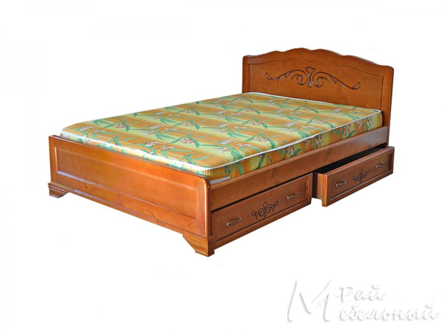 Односпальная кровать Афины с ящиками
