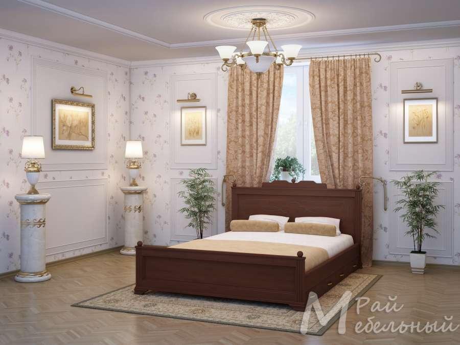 Двуспальная кровать Вашингтон с ящиками