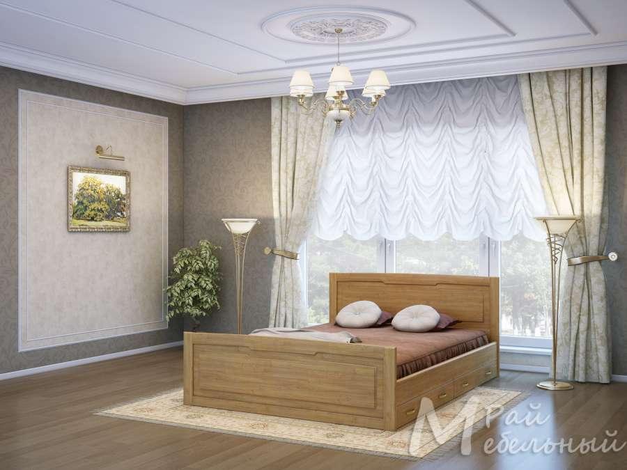 Двуспальная кровать Варна с ящиками