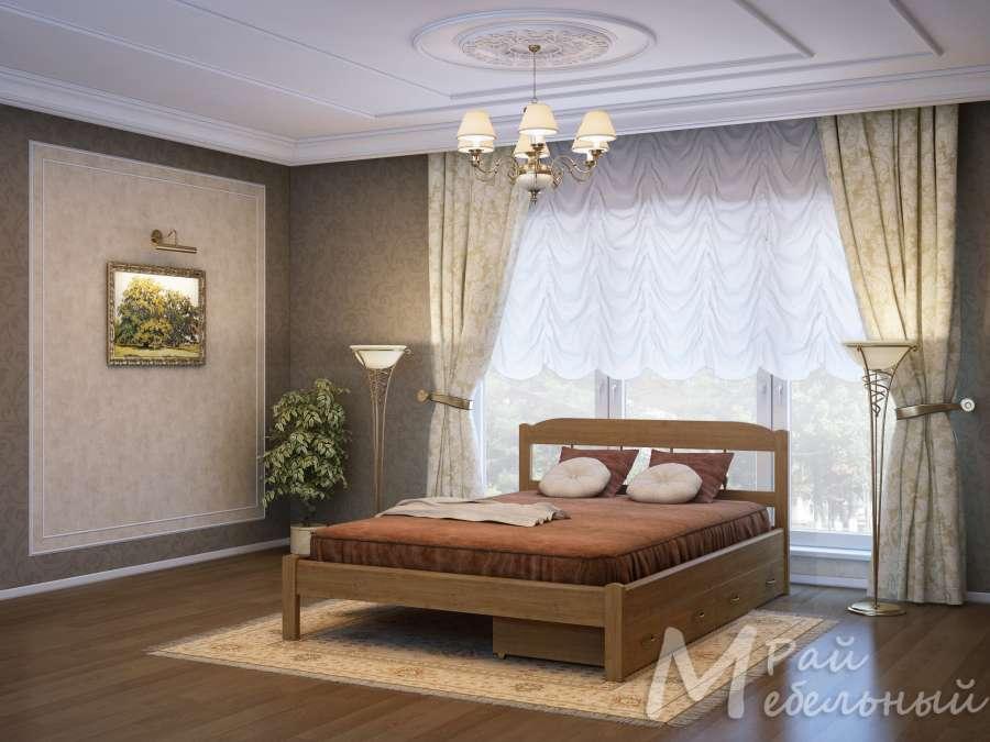 Двуспальная кровать Рига с ящиками