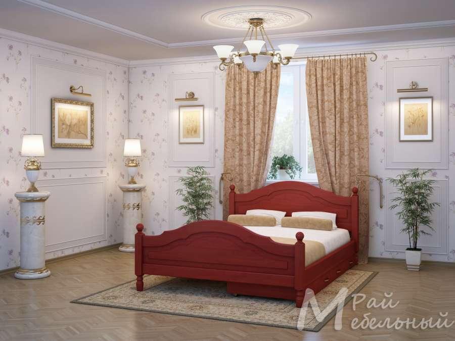Двуспальная кровать Алжир с ящиками