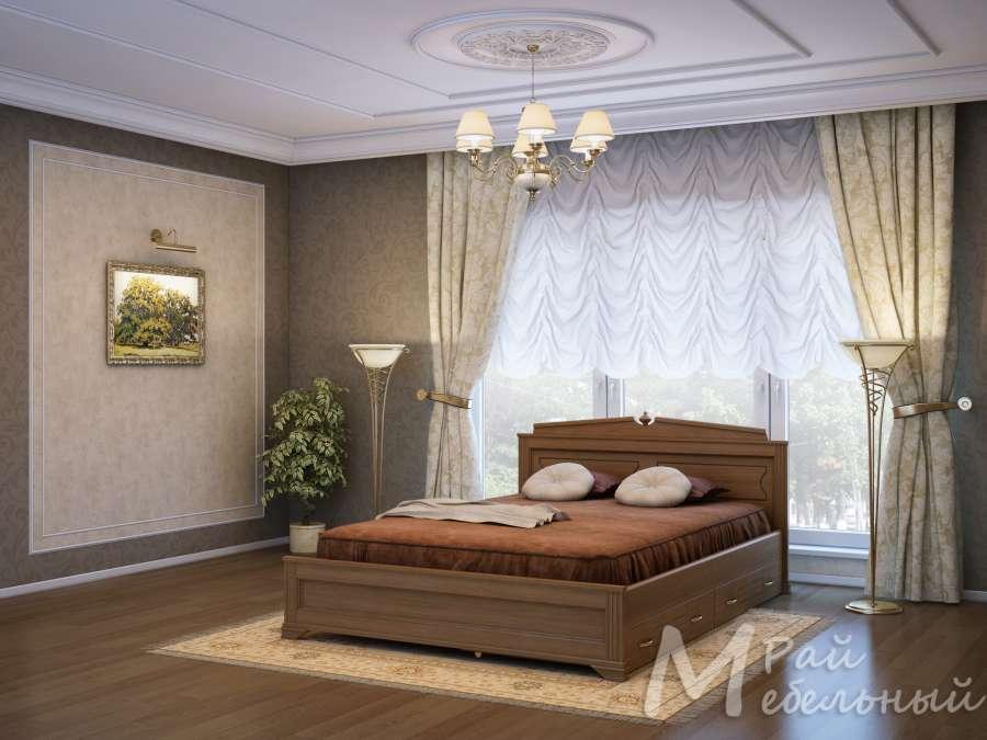 Двуспальная кровать Ватикан с ящиками