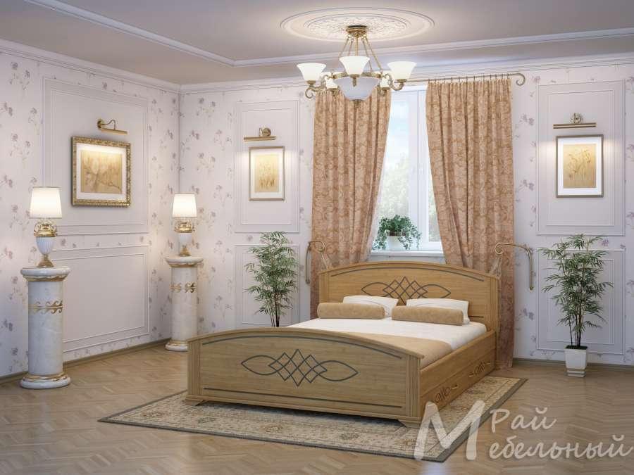 Двуспальная кровать Валенсия с ящиками