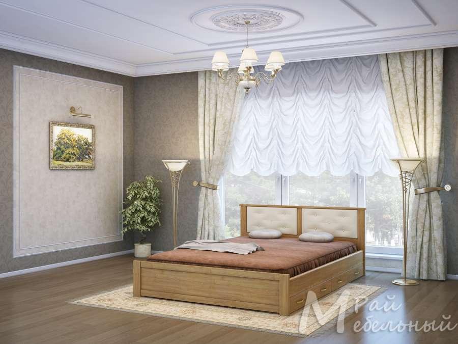 Двуспальная кровать Брест с ящиками