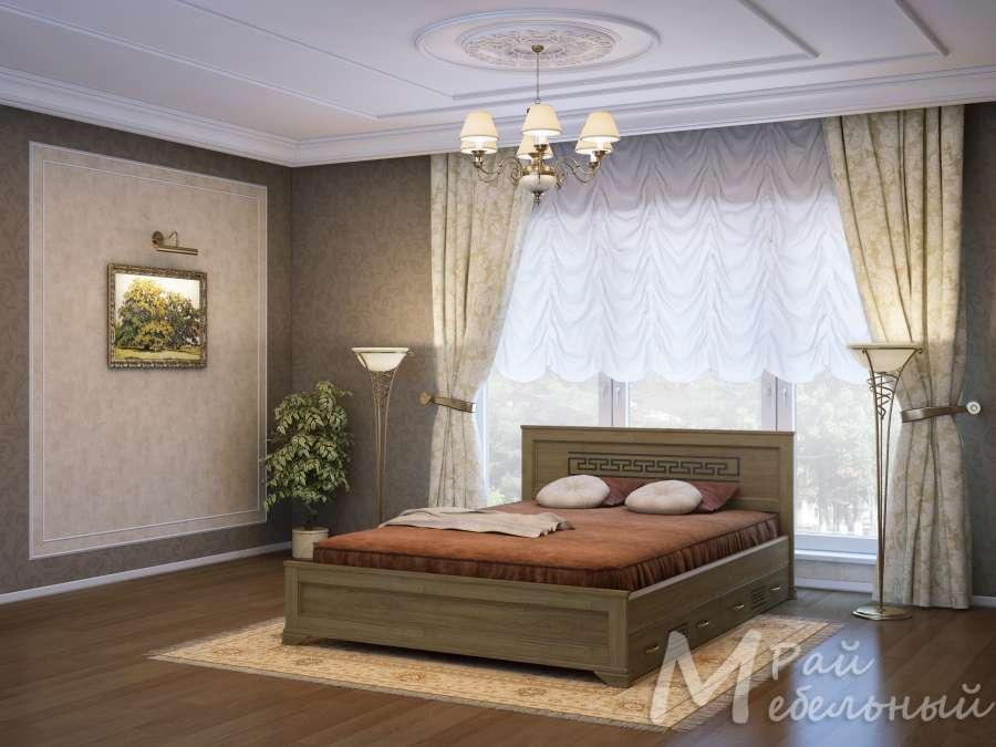 Односпальная кровать Ашхабад с ящиками