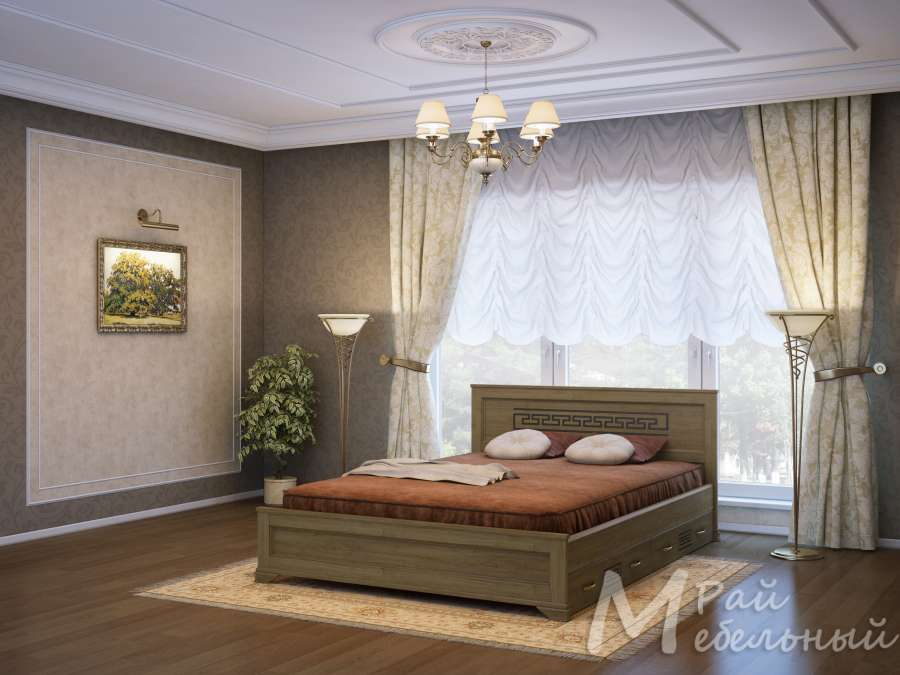 Полуторная кровать Ашхабад с ящиками