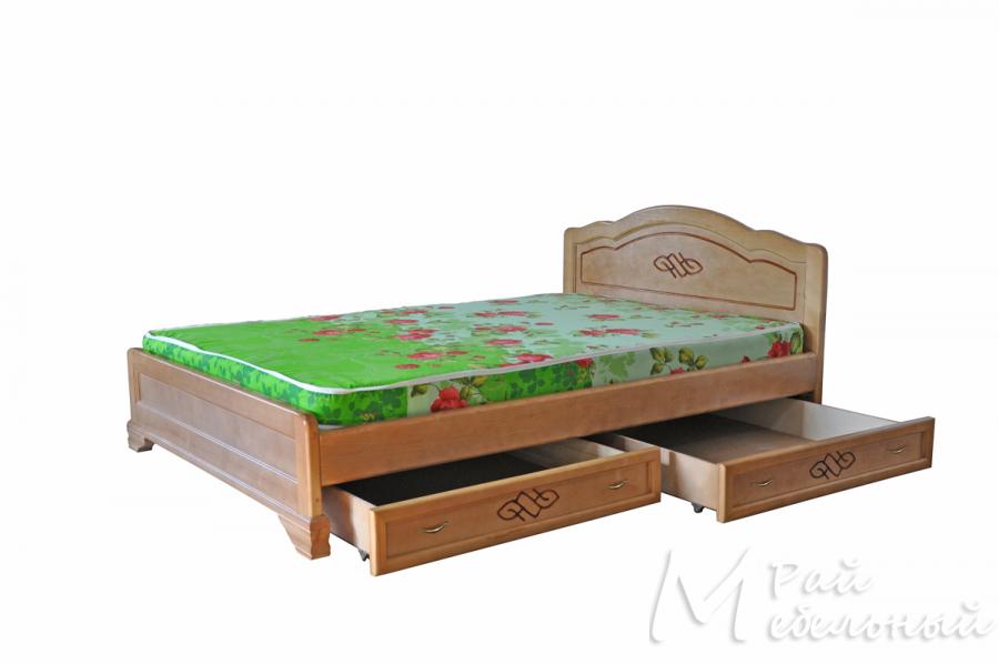 Полуторная кровать Панама с ящиками