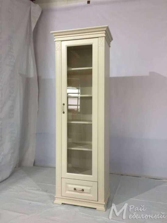 Одностворчатый шкаф модель 8, со стеклом