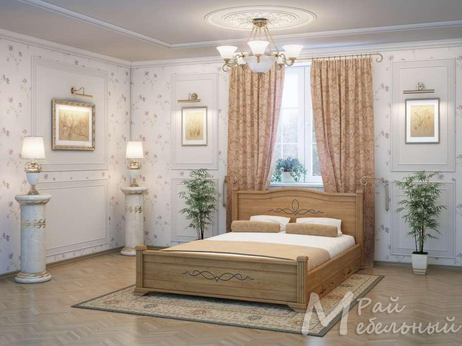 Полуторная кровать Бейрут с ящиками