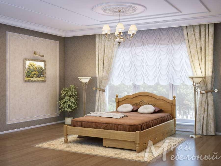 Двуспальная кровать Кишинев с ящиками