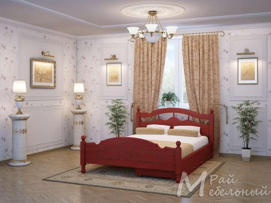 Двуспальная кровать Москва с ящиками