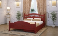 Кровать цвета венге с высокими стенками